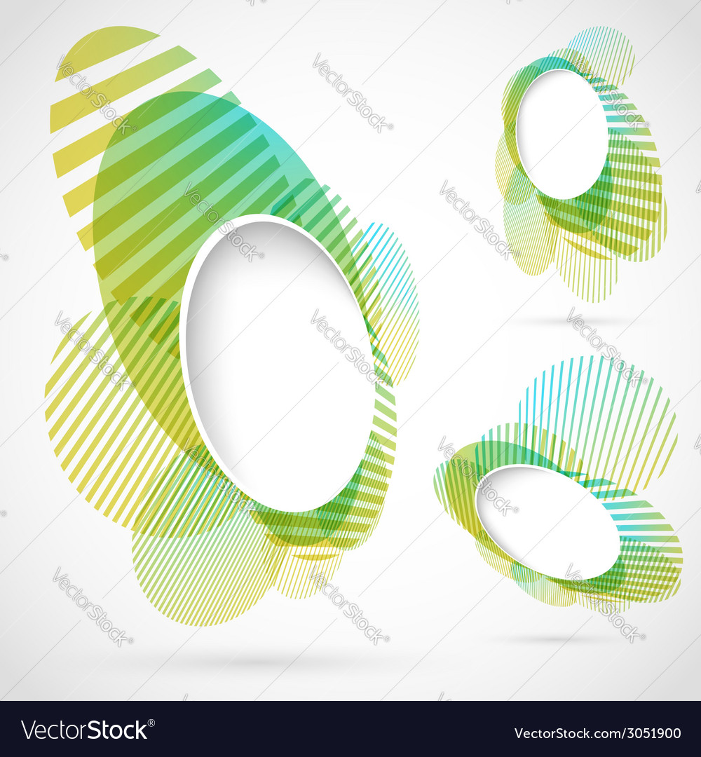 Bright green blue summer design elements vector | Price: 1 Credit (USD $1)