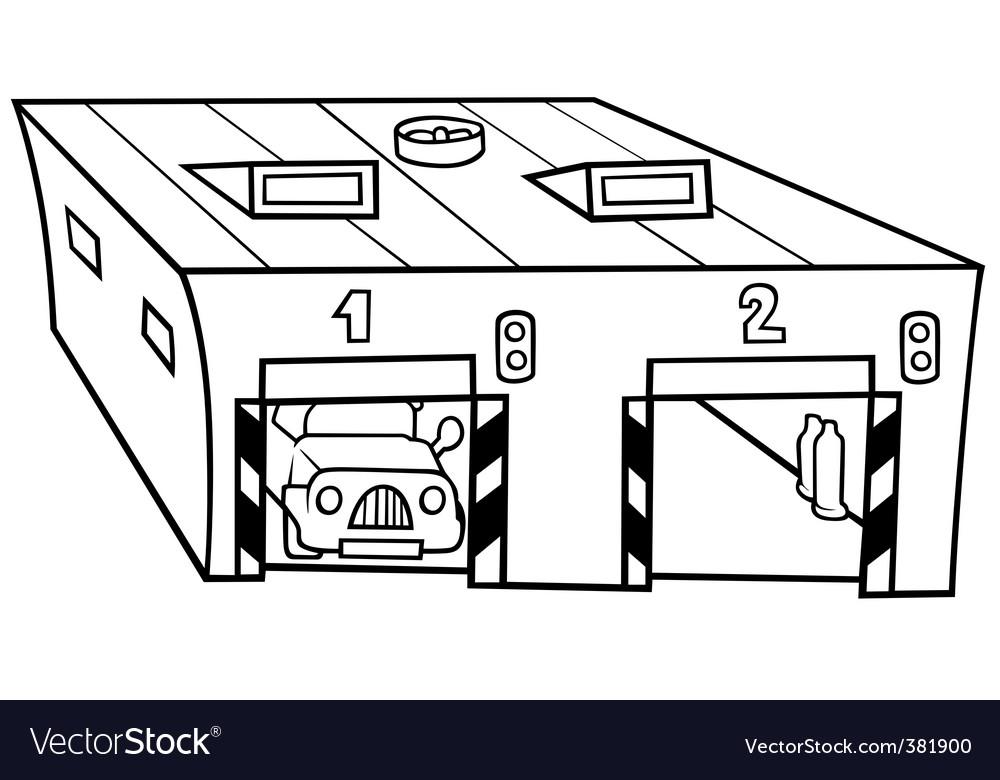 Garage vector | Price: 1 Credit (USD $1)