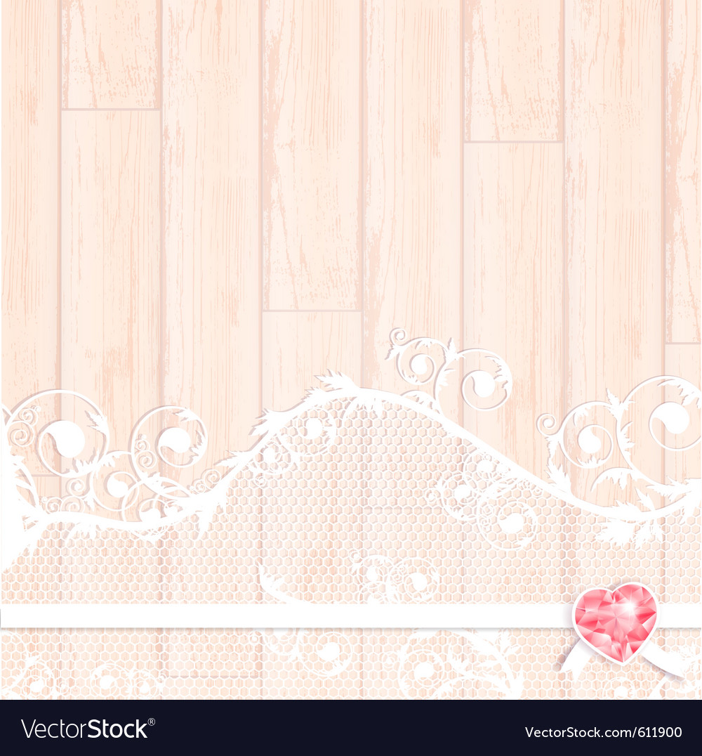 Lace frame with crystal heart vector | Price: 1 Credit (USD $1)