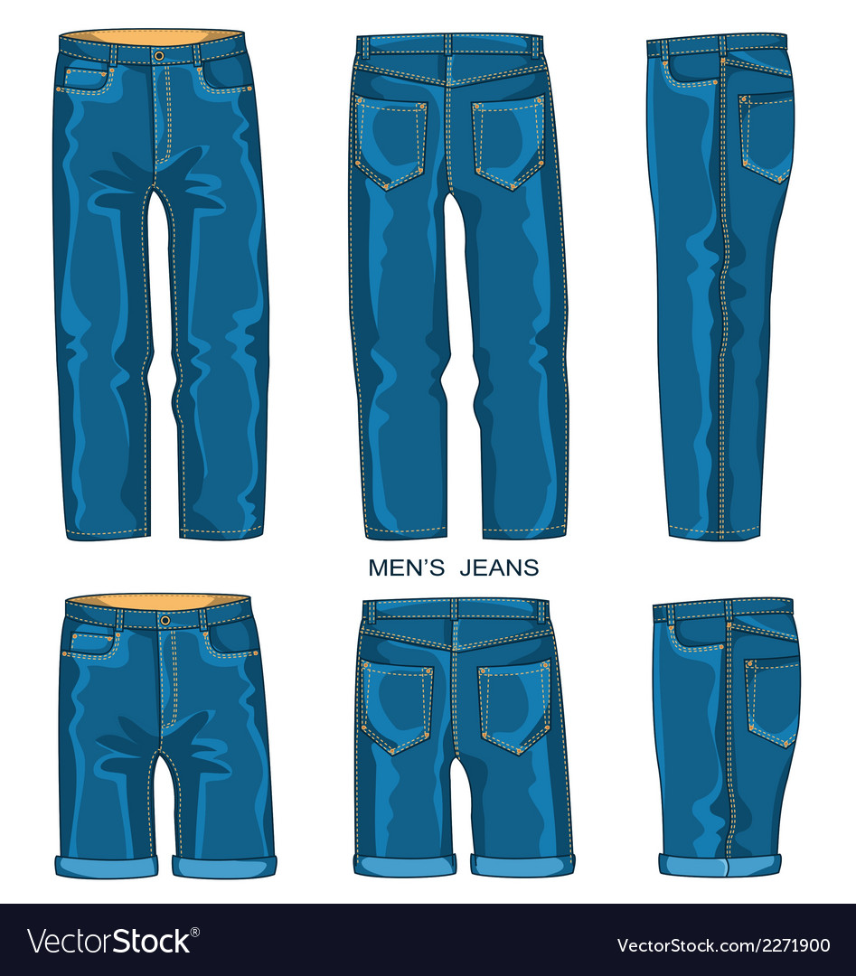 Man jeans pants and shorts vector | Price: 1 Credit (USD $1)