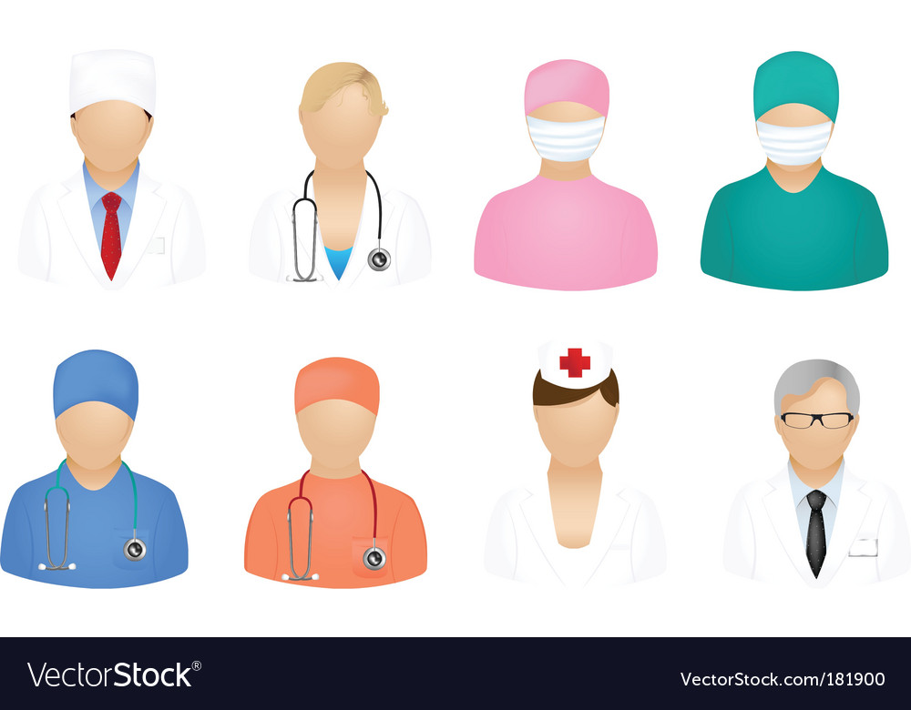 Medical people icons vector | Price: 1 Credit (USD $1)