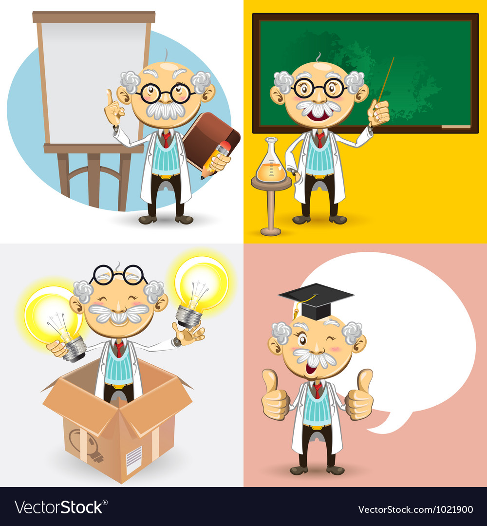 Professor characters vector | Price: 5 Credit (USD $5)
