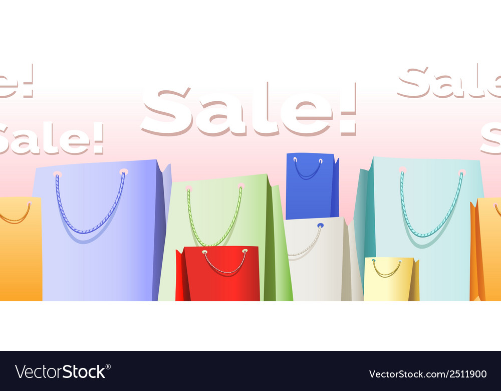 Sale bags pattern vector | Price: 1 Credit (USD $1)