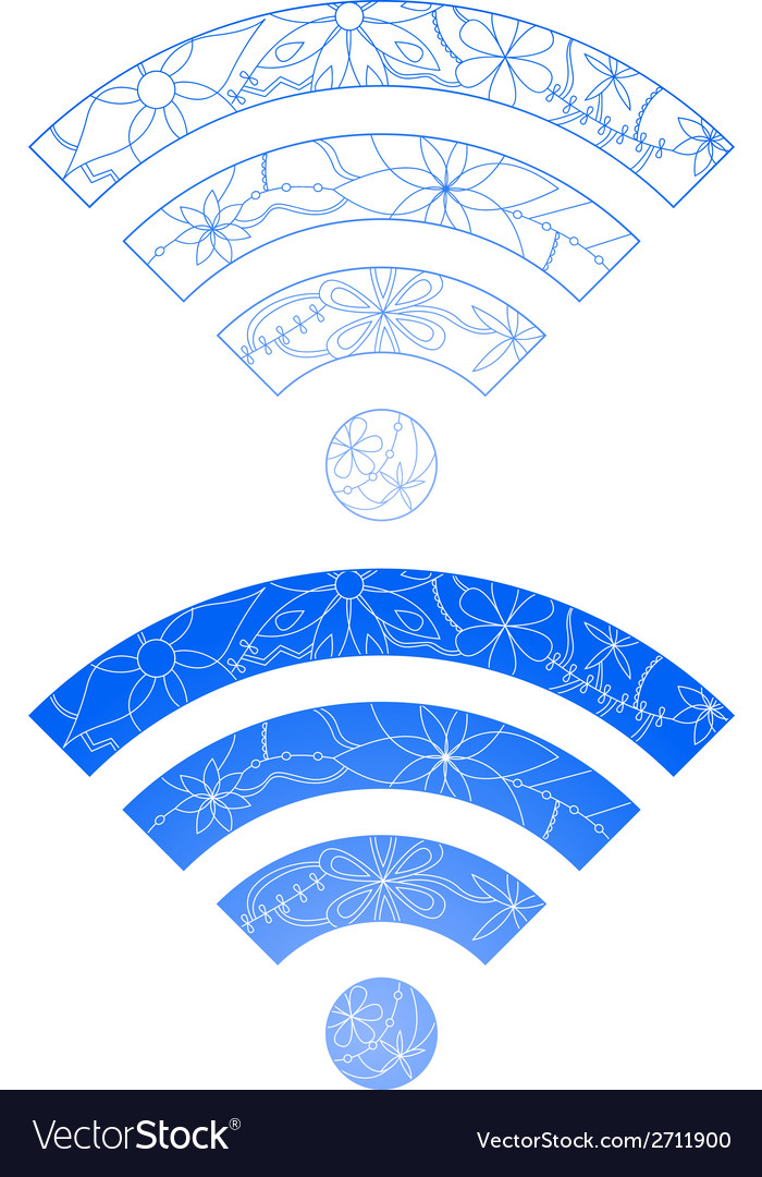 Set of wi-fi signs vector | Price: 1 Credit (USD $1)