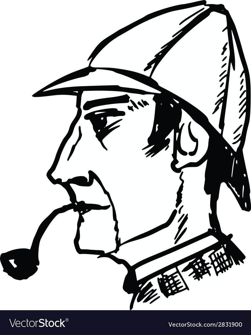 Sherlock holmes vector | Price: 1 Credit (USD $1)