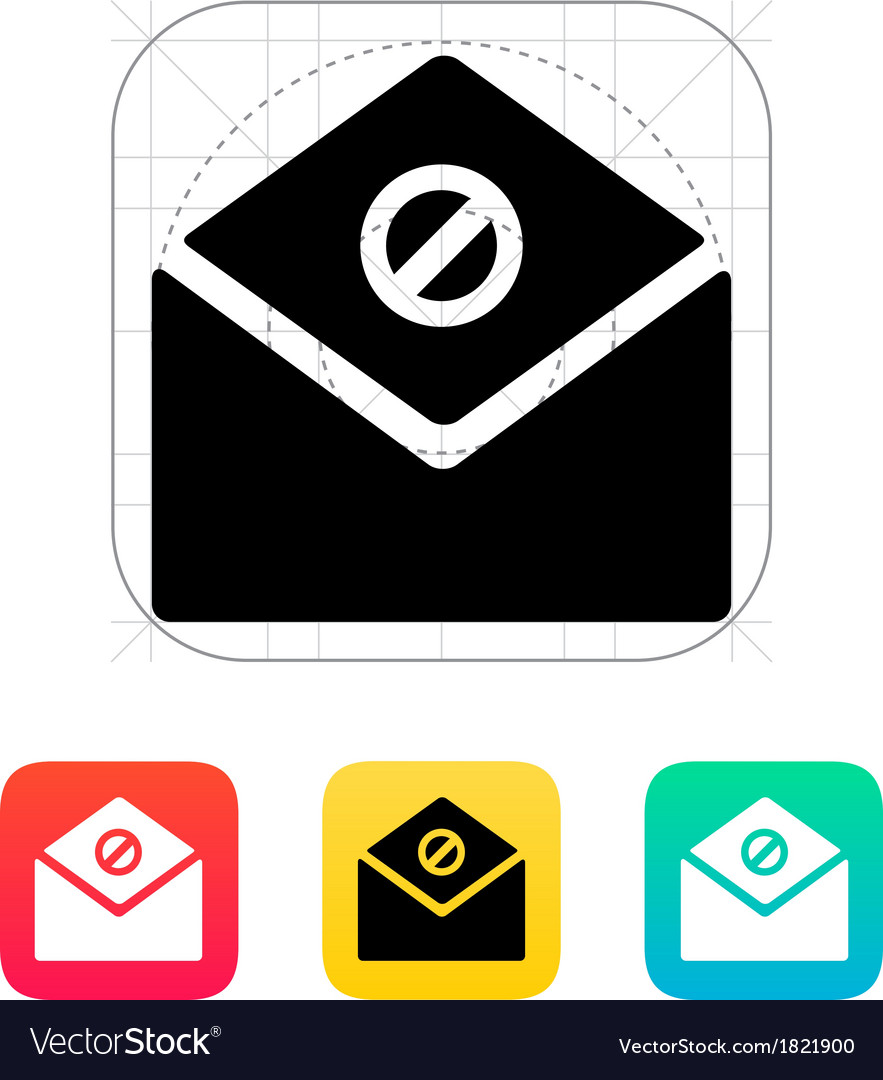 Spam mail icon vector | Price: 1 Credit (USD $1)