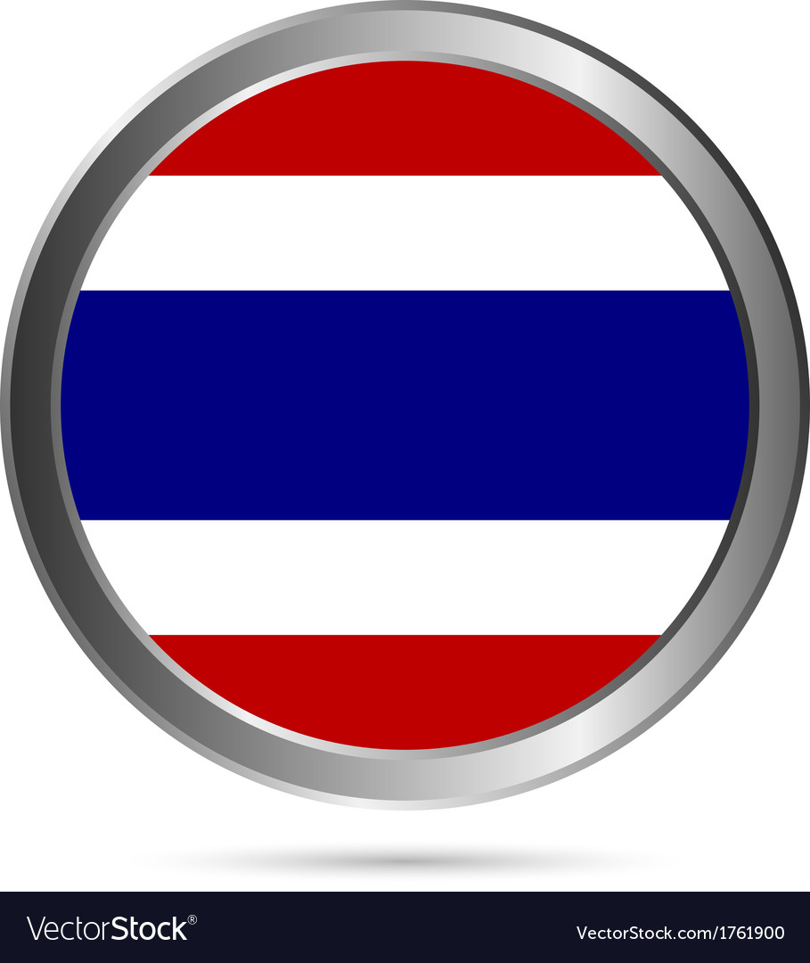 Thailand flag button vector | Price: 1 Credit (USD $1)