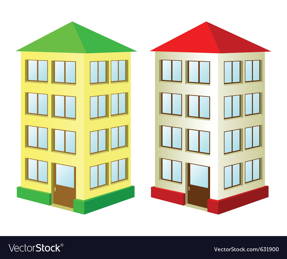 Two high houses vector | Price: 1 Credit (USD $1)
