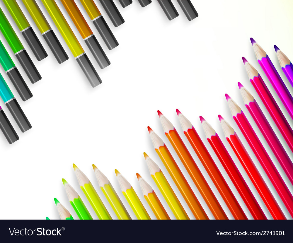 Back to school with multicolored pensils eps10 vector | Price: 1 Credit (USD $1)