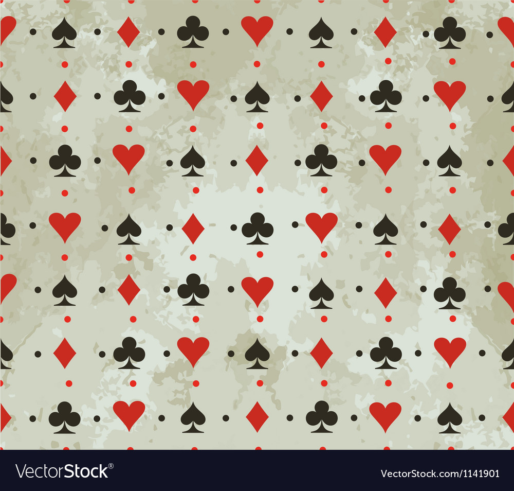 Background with card suits vector | Price: 1 Credit (USD $1)