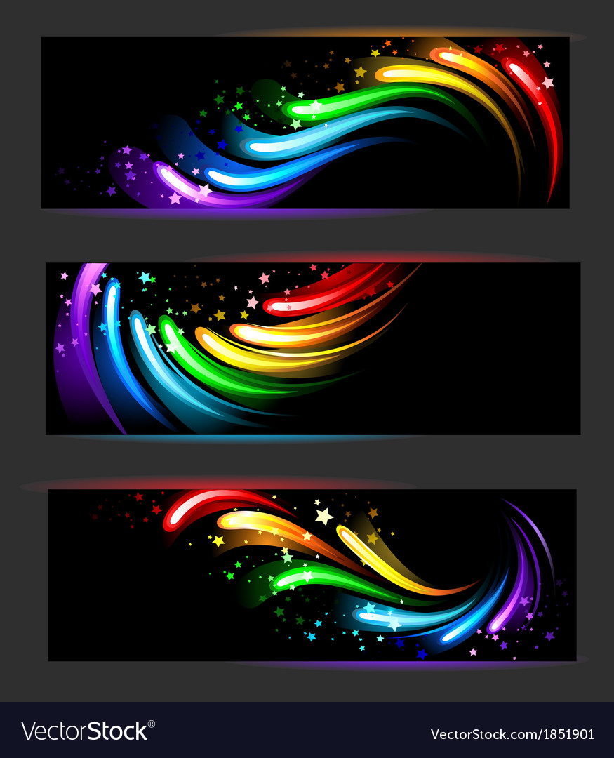 Banner with rainbow pattern vector | Price: 1 Credit (USD $1)