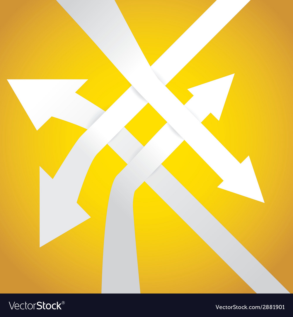 Bended arrows vector | Price: 1 Credit (USD $1)