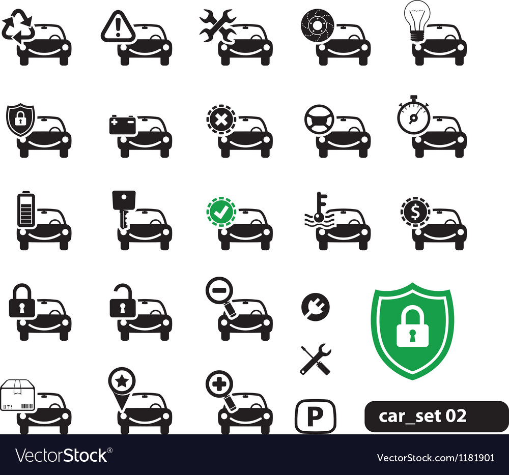 Car service icons set vector | Price: 1 Credit (USD $1)