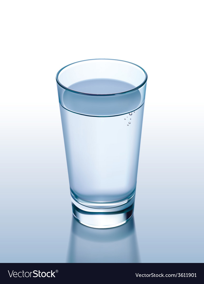 Glass water vector | Price: 1 Credit (USD $1)