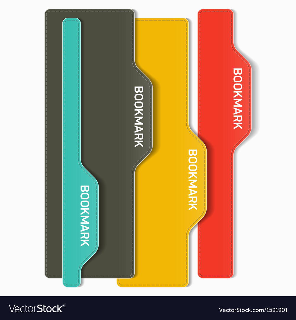 Set of bookmarks vector | Price: 1 Credit (USD $1)