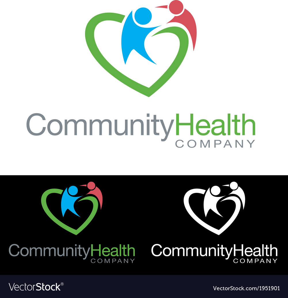 Social community health company icon logo vector | Price: 3 Credit (USD $3)