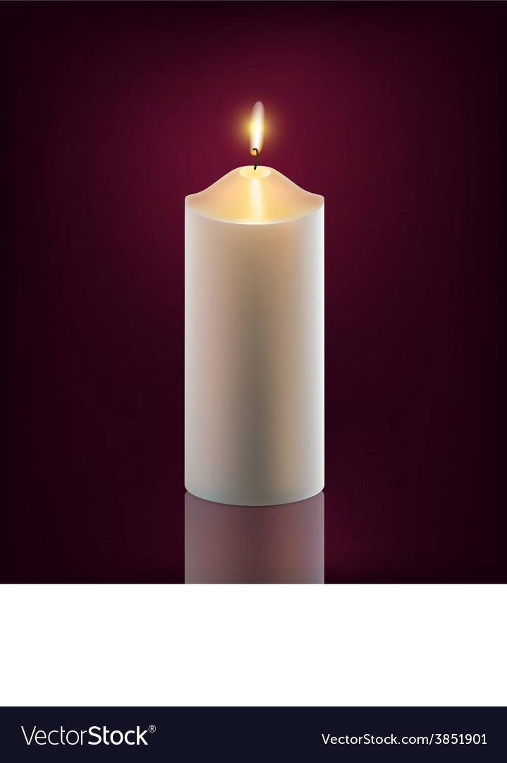 White burning candle vector | Price: 1 Credit (USD $1)
