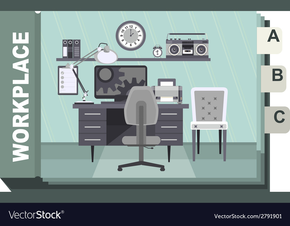 Workplace vector | Price: 1 Credit (USD $1)
