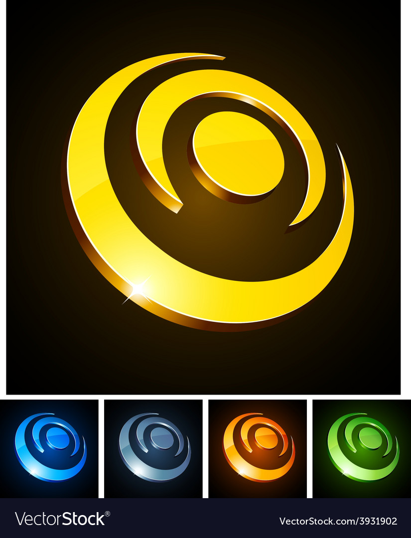 3d vibrant circles vector | Price: 1 Credit (USD $1)