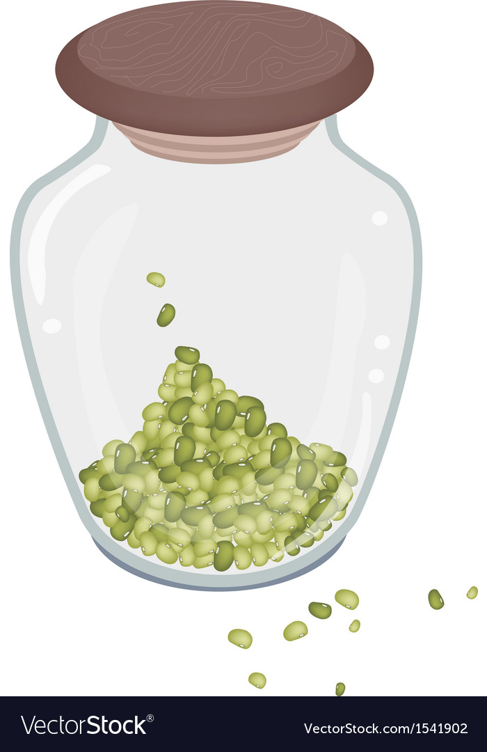 A lot of mung beans in glass bottle vector | Price: 1 Credit (USD $1)