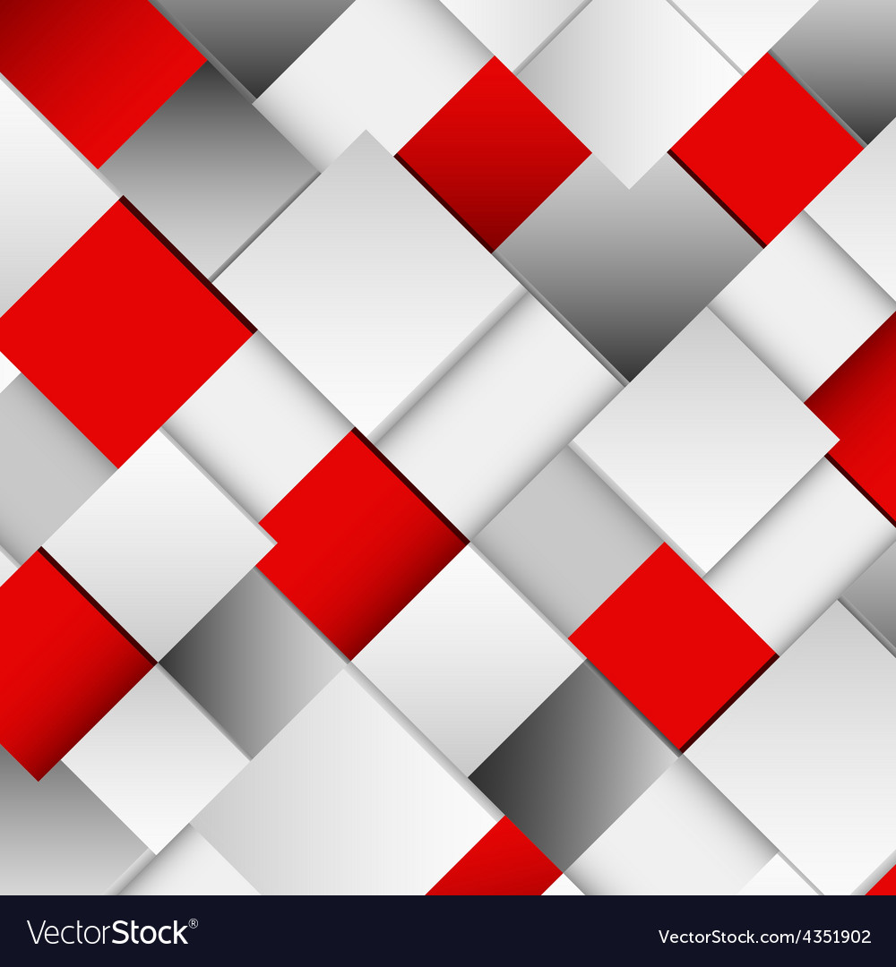 Abstract white and red square background vector | Price: 1 Credit (USD $1)