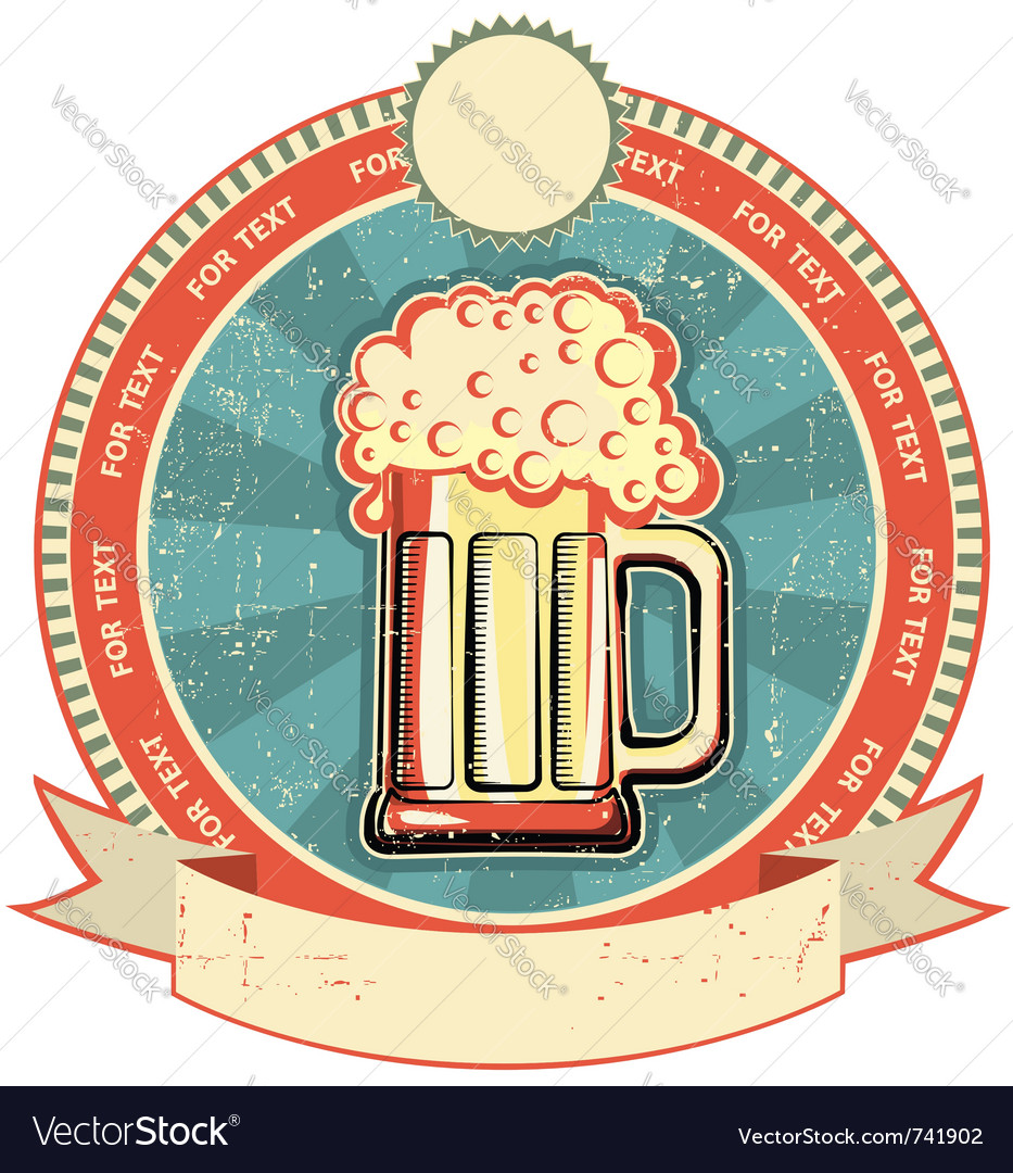 Beer label vector   Price: 1 Credit (USD $1)