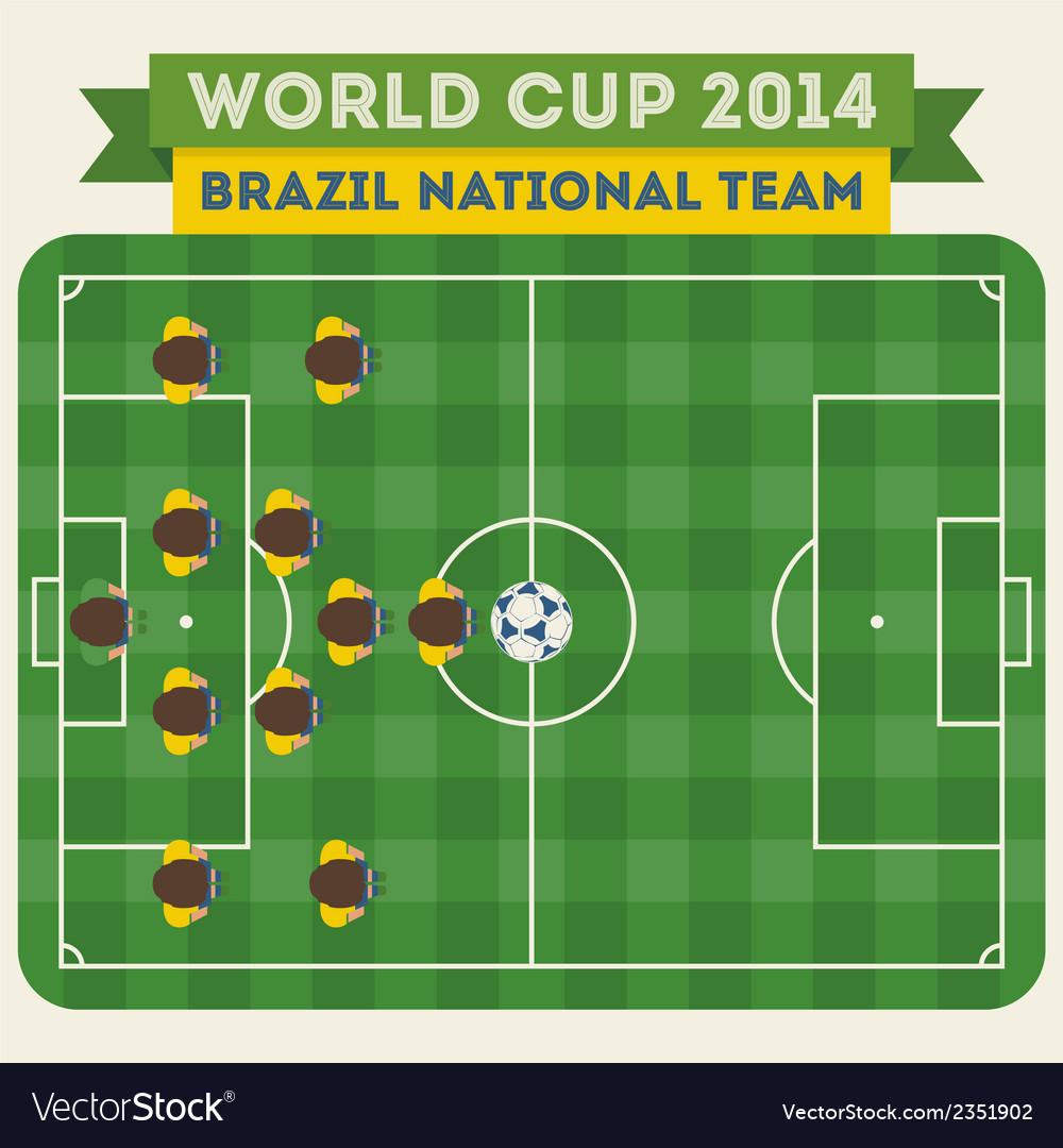Brazil national football team 2014 vector | Price: 1 Credit (USD $1)