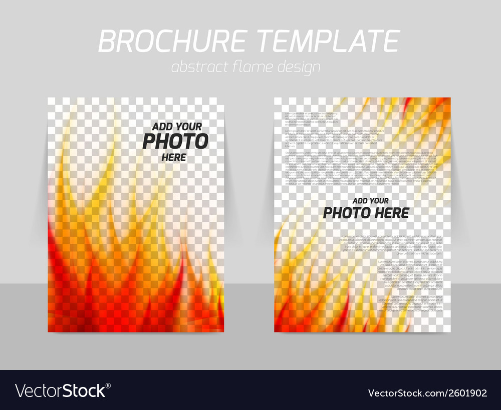 Brochure with flame vector | Price: 1 Credit (USD $1)