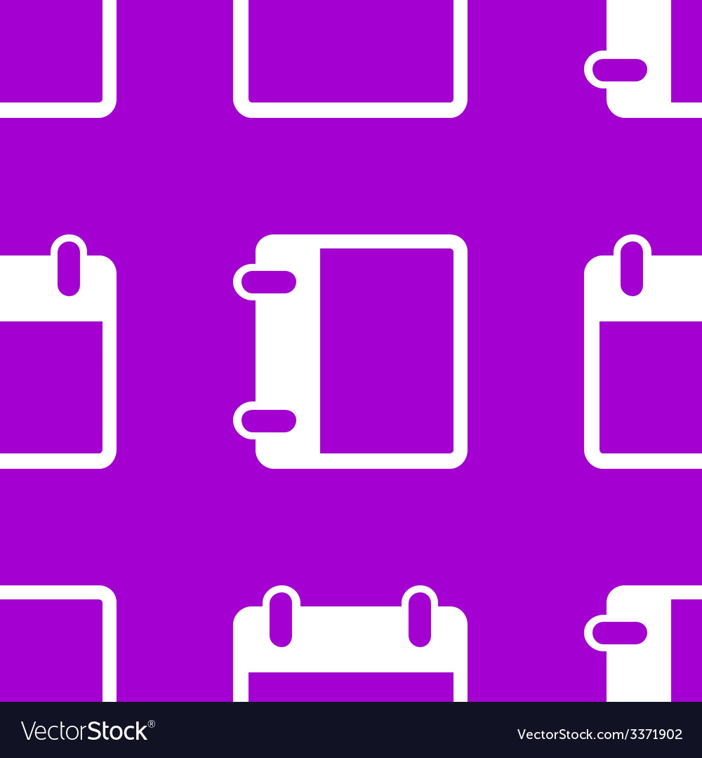 Calendar web icon flat design seamless pattern vector | Price: 1 Credit (USD $1)