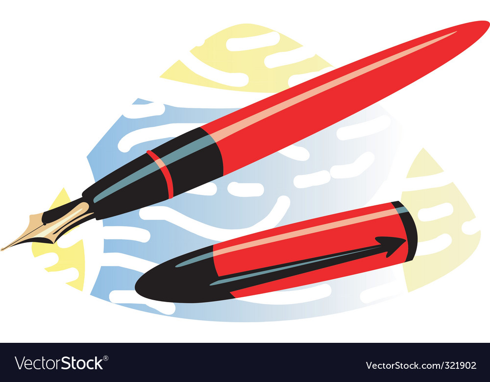 Fountain pen vector | Price: 1 Credit (USD $1)