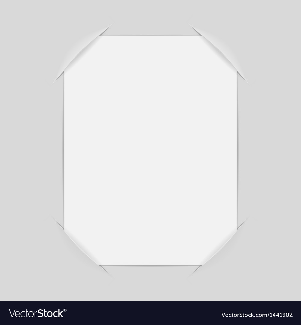 Frame with empty page place for photo vector | Price: 1 Credit (USD $1)