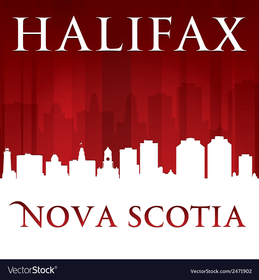 Halifax nova scotia canada city skyline silhouette vector | Price: 1 Credit (USD $1)