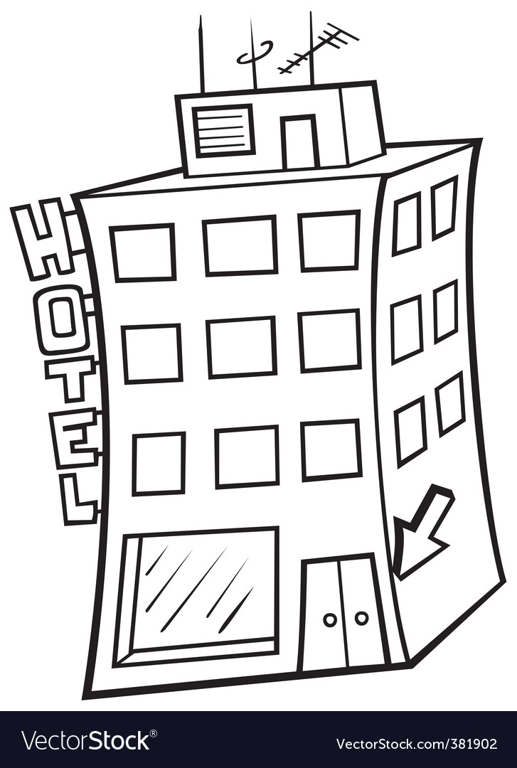 Hotel building vector | Price: 1 Credit (USD $1)