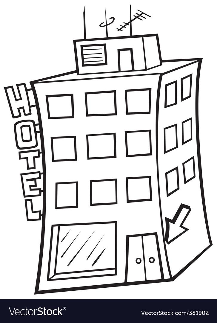 Hotel building vector | Price: 1 Credit (USD $1)