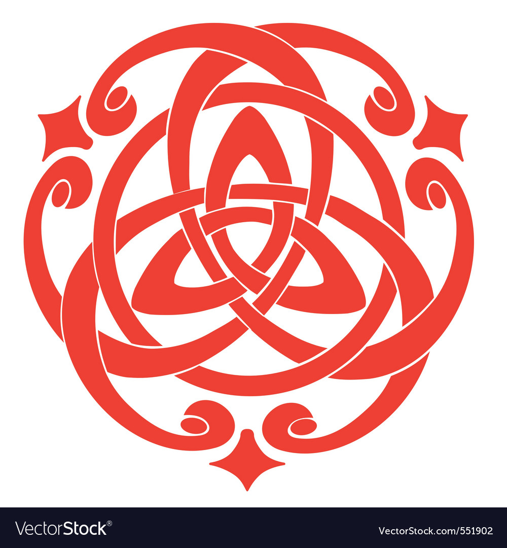illustration of celtic knot motif vector | Price: 1 Credit (USD $1)