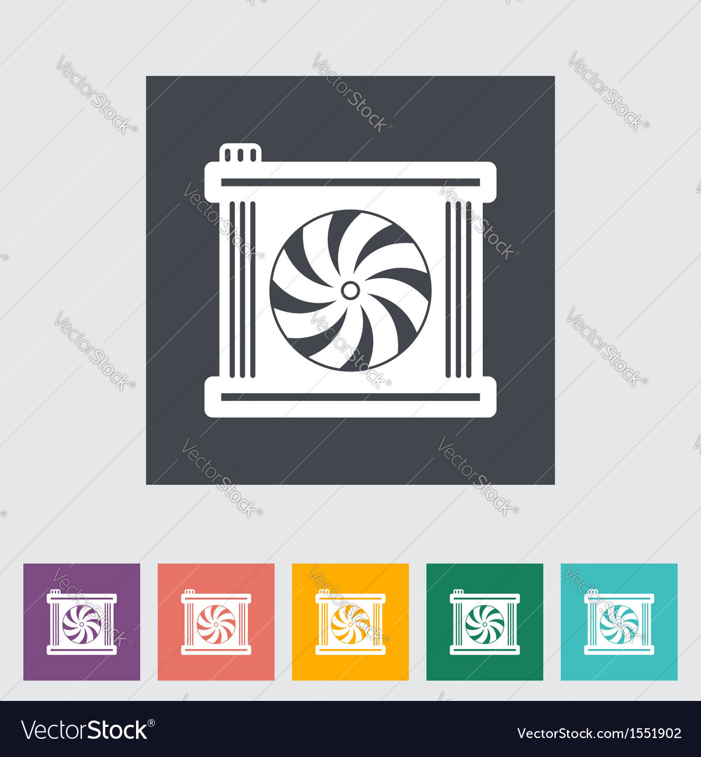Radiator fan vector | Price: 1 Credit (USD $1)