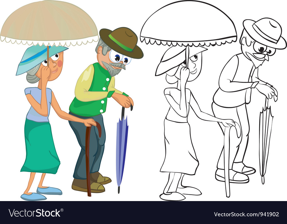Senior citizens vector | Price: 1 Credit (USD $1)