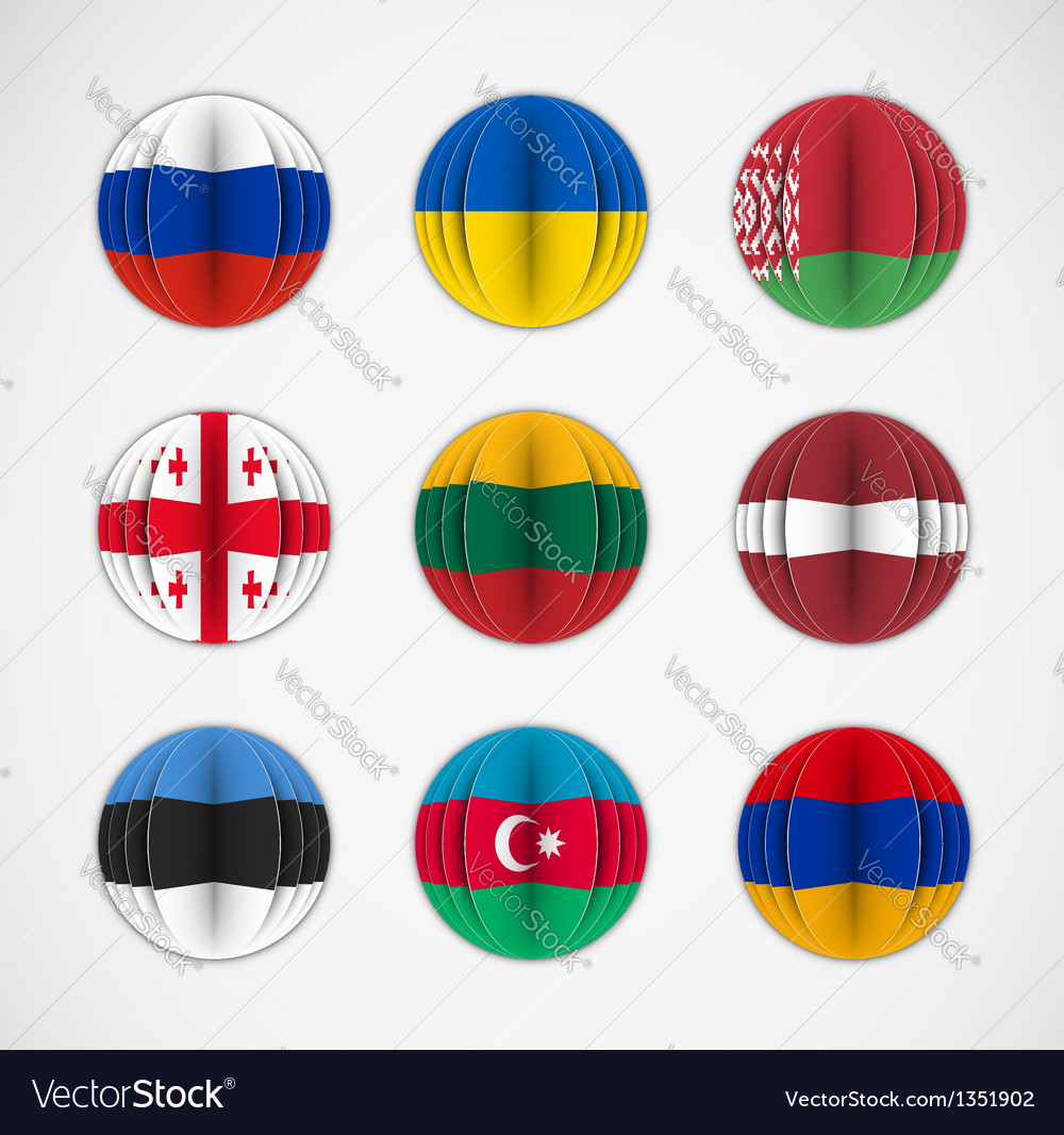 Set of flags vector | Price: 3 Credit (USD $3)
