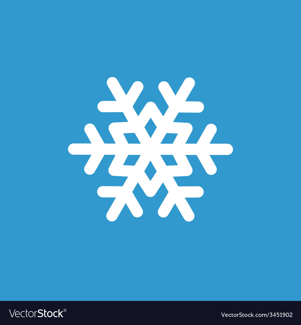 Snowflake icon white on the blue background vector   Price: 1 Credit (USD $1)