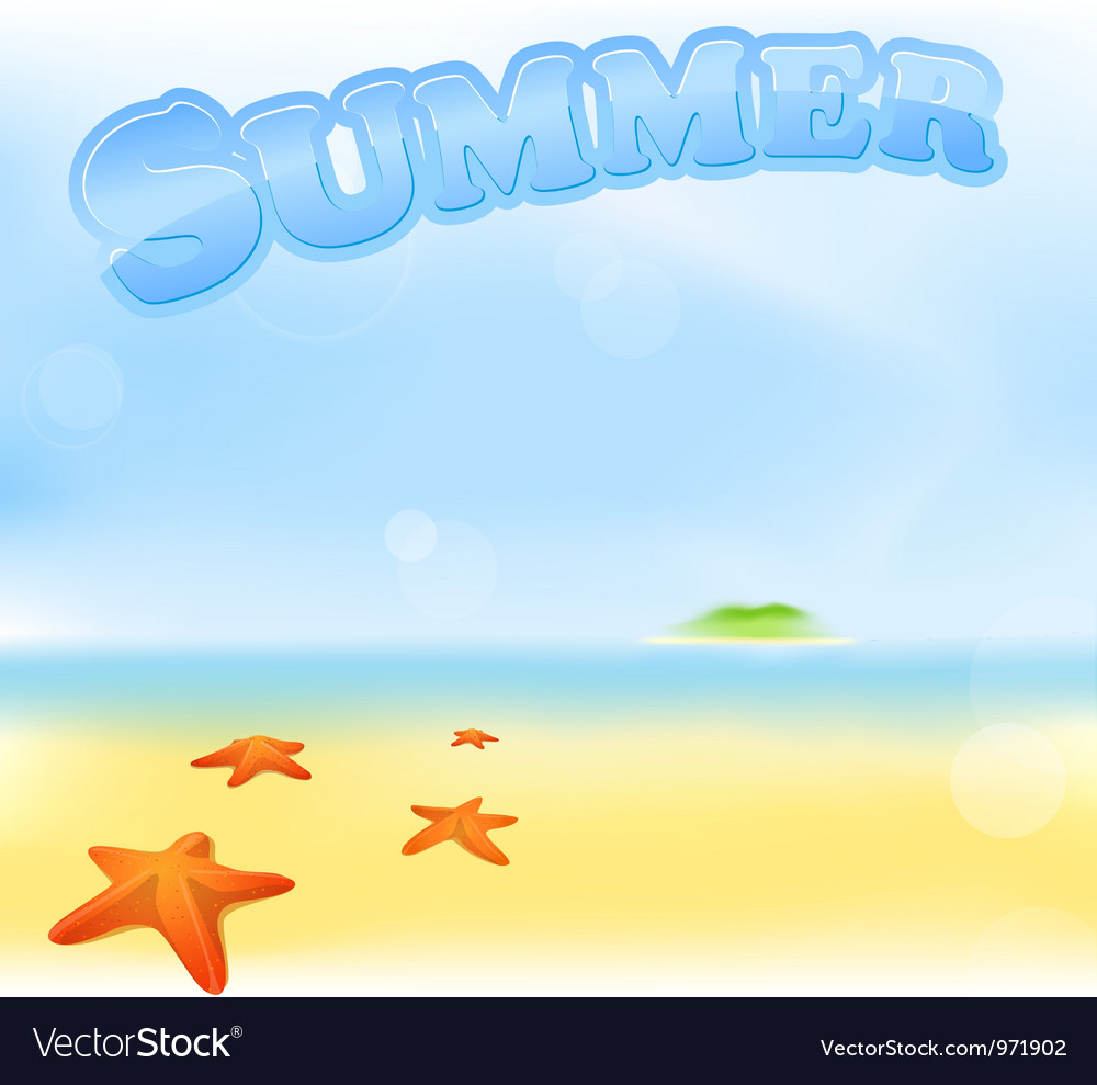 Summer sea sign vector | Price: 1 Credit (USD $1)