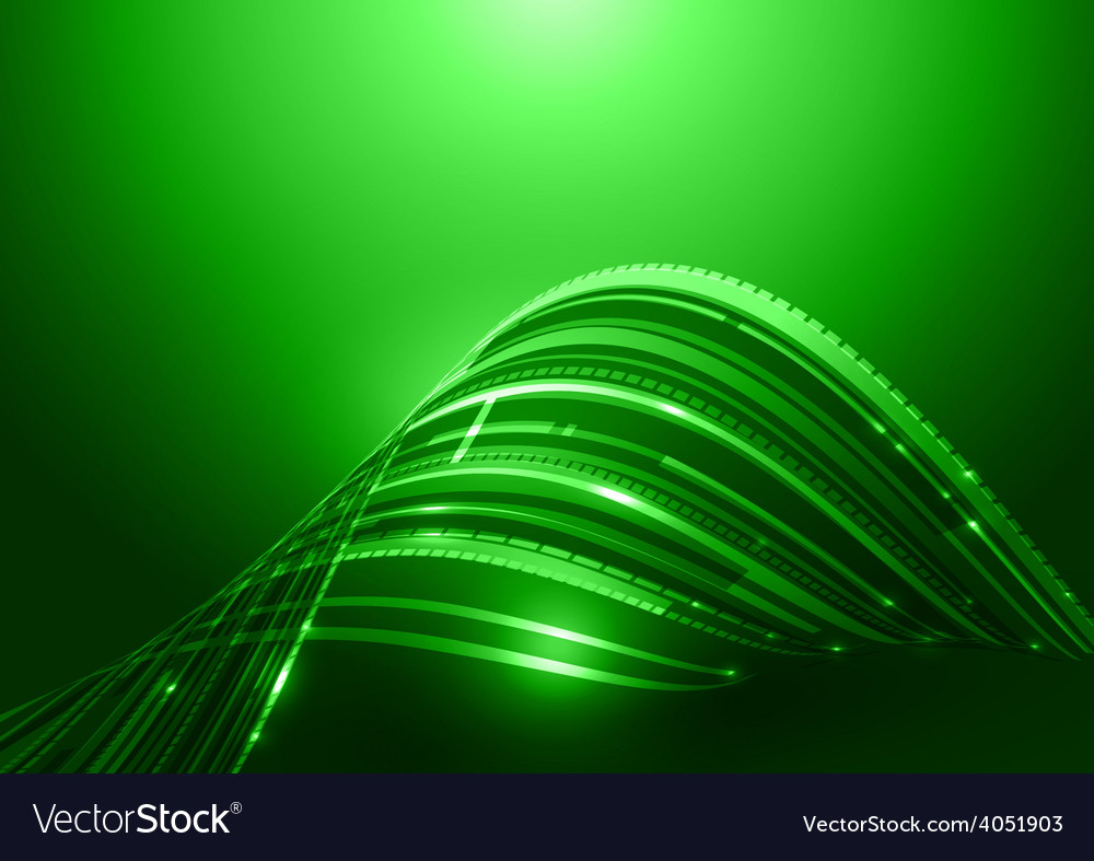 Abstract technology green background vector | Price: 1 Credit (USD $1)