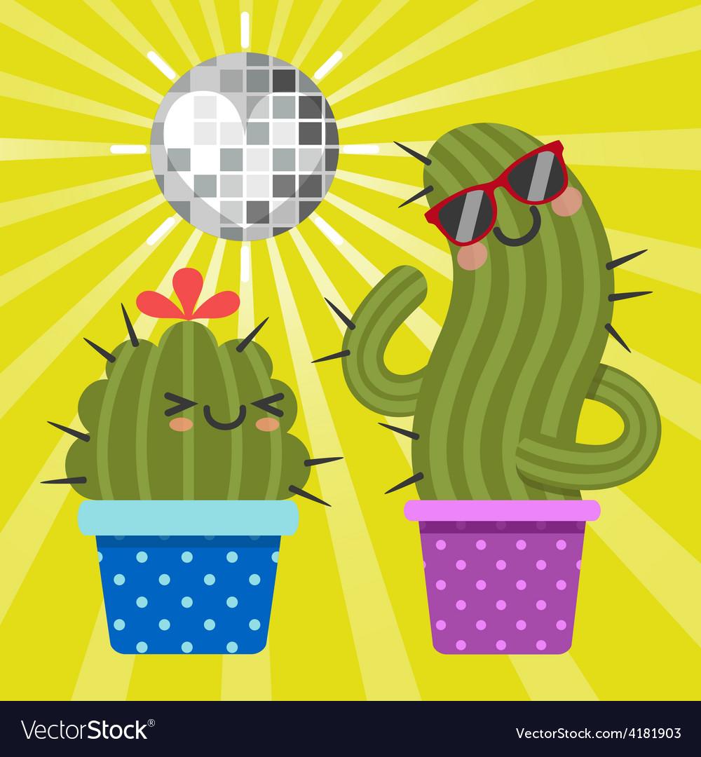 Disco cactus vector | Price: 1 Credit (USD $1)