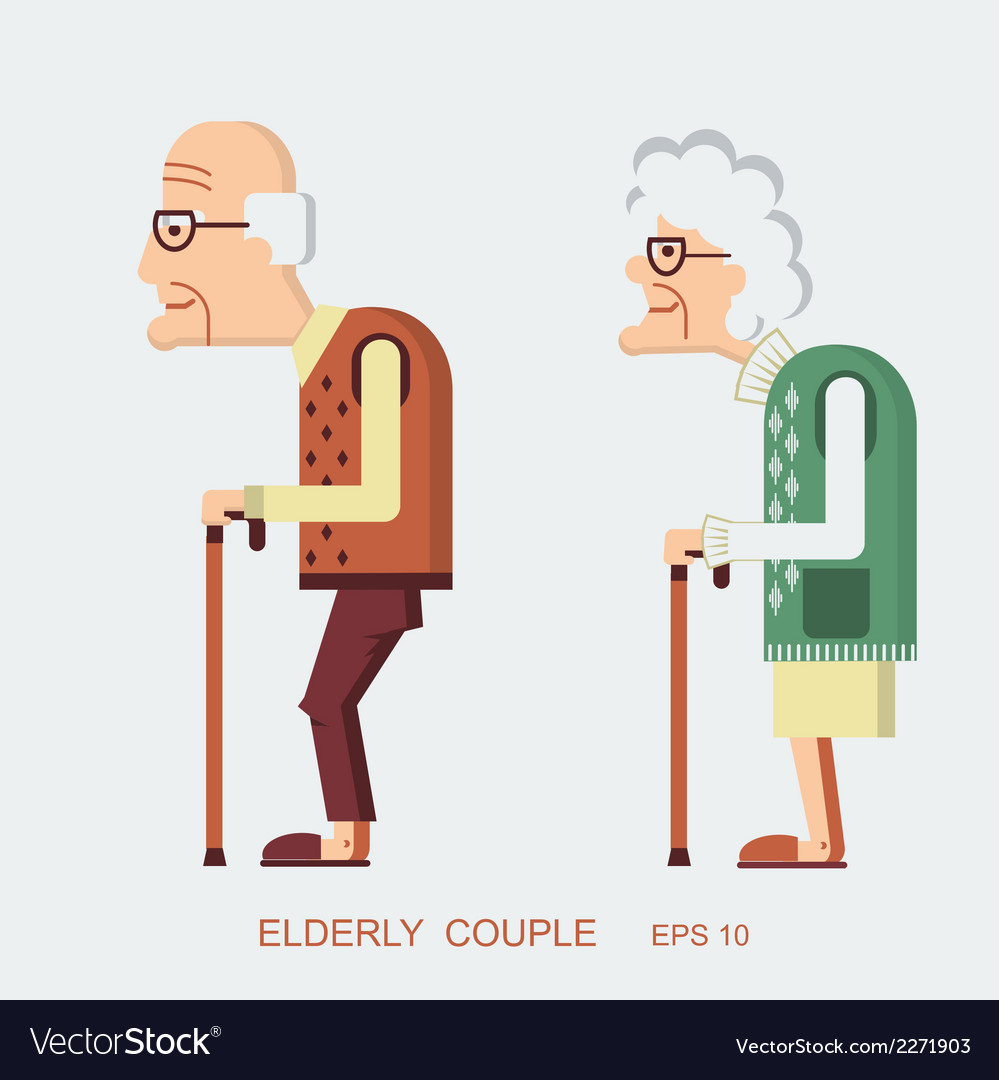 Elderly people vector | Price: 1 Credit (USD $1)