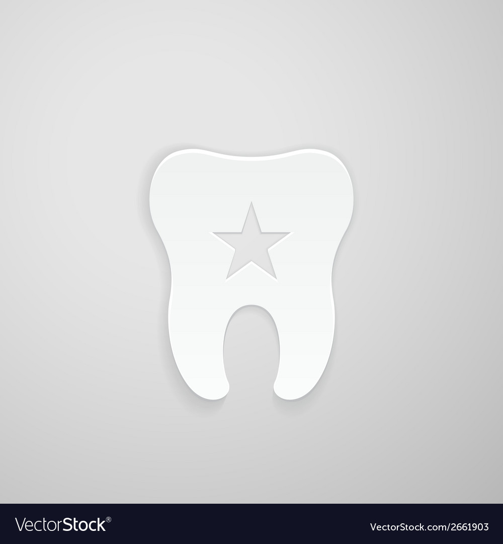 Emblem tooth with a star inside vector | Price: 1 Credit (USD $1)