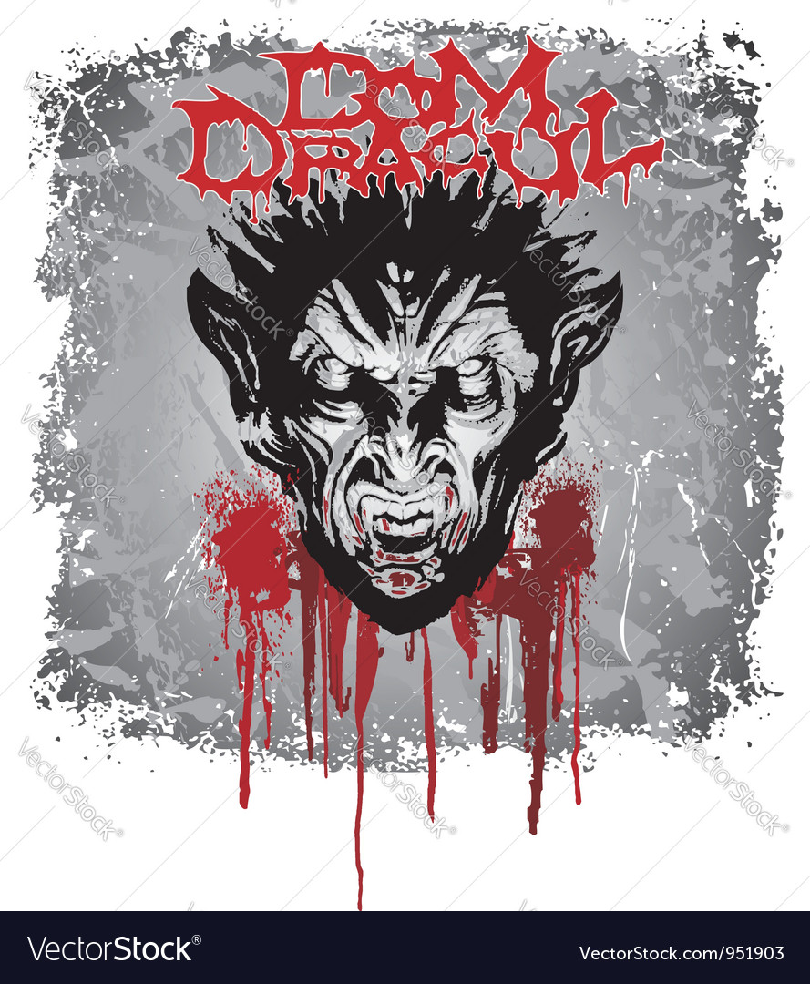 Face of dracula vector | Price: 1 Credit (USD $1)