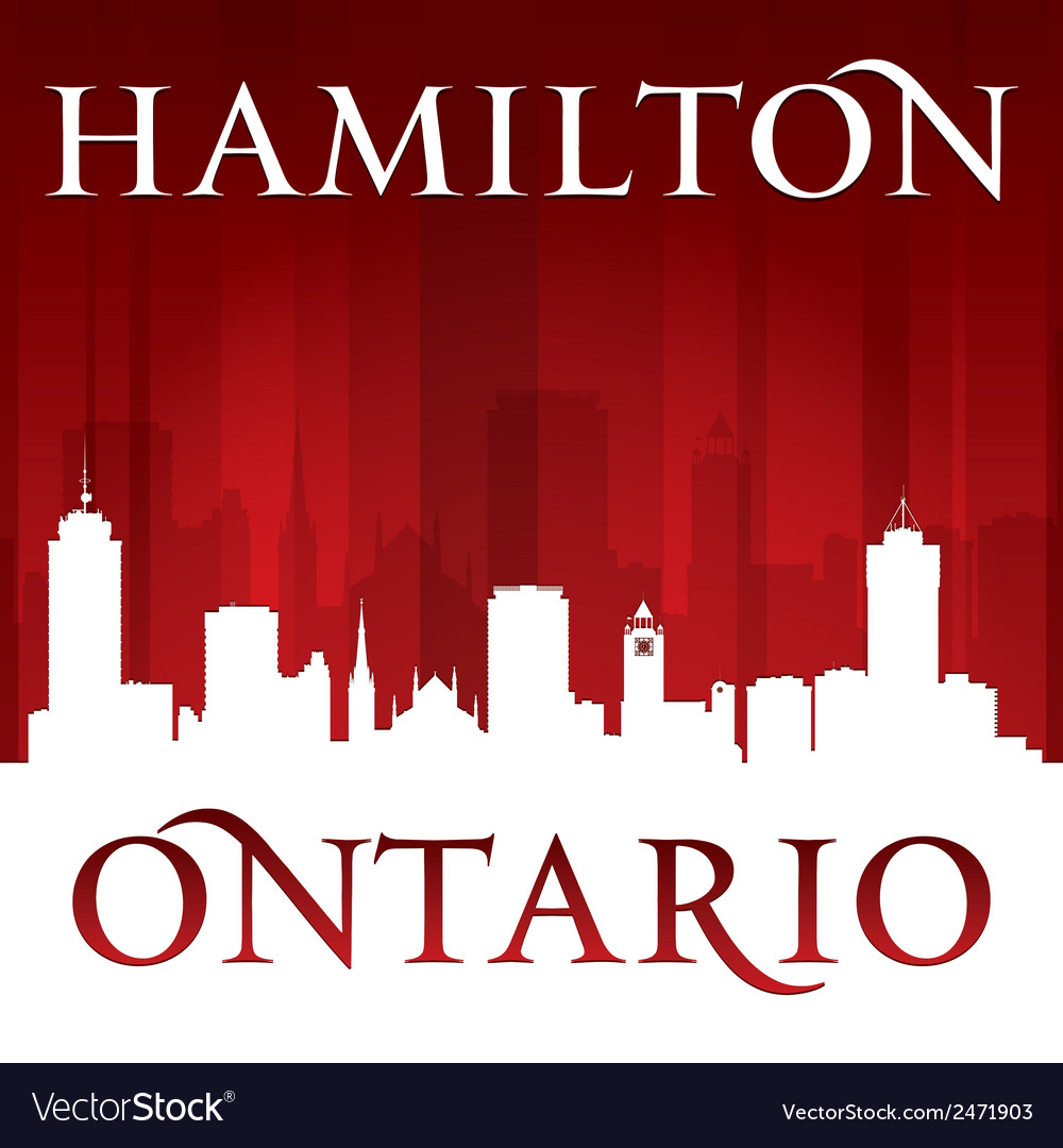 Hamilton ontario canada city skyline silhouette vector | Price: 1 Credit (USD $1)
