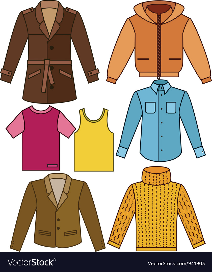 Mens clothing collection vector | Price: 1 Credit (USD $1)