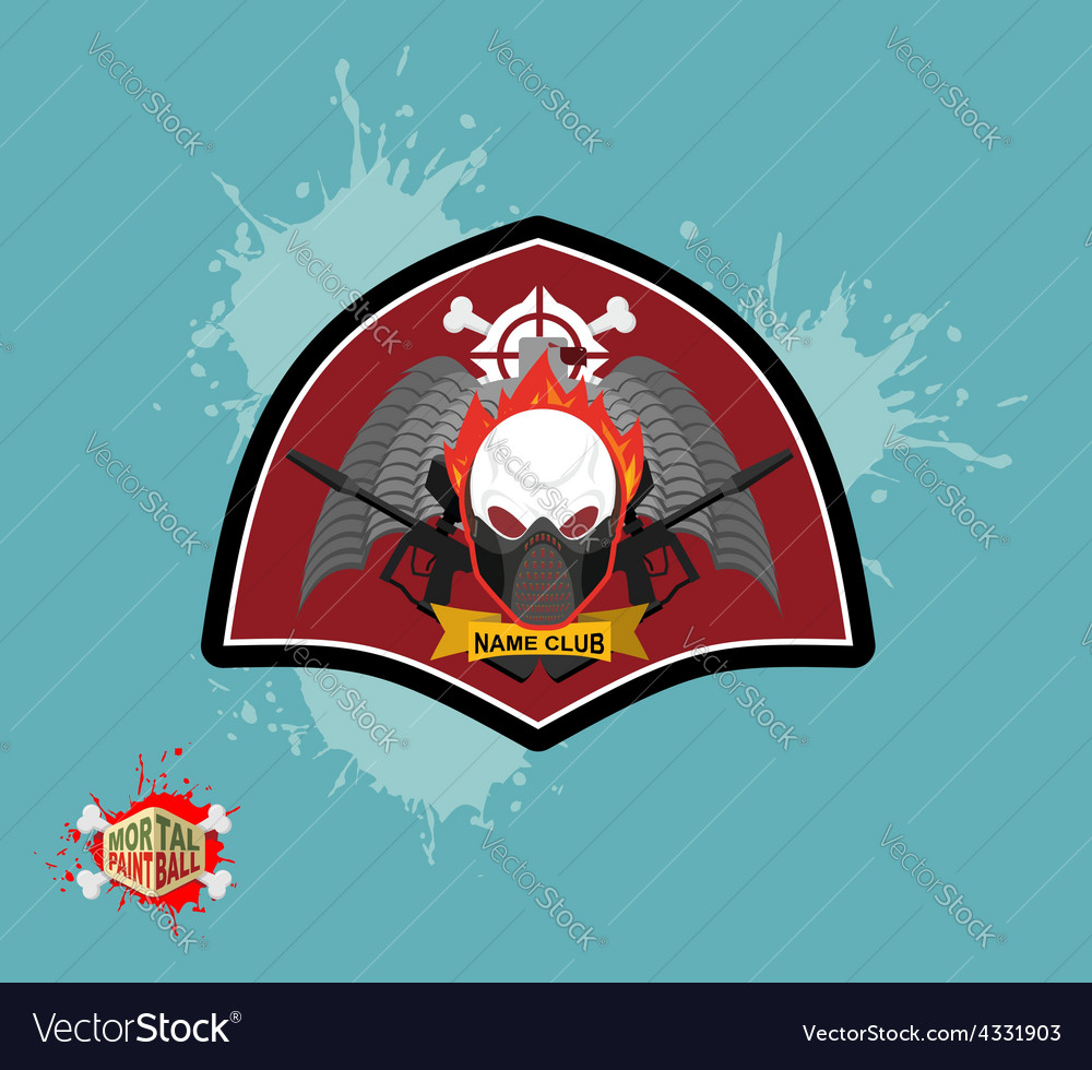 Paintball logo skul protection mask heraldic vector | Price: 1 Credit (USD $1)