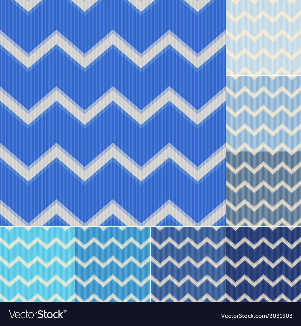 Seamless blue colors chevron pattern vector | Price: 1 Credit (USD $1)