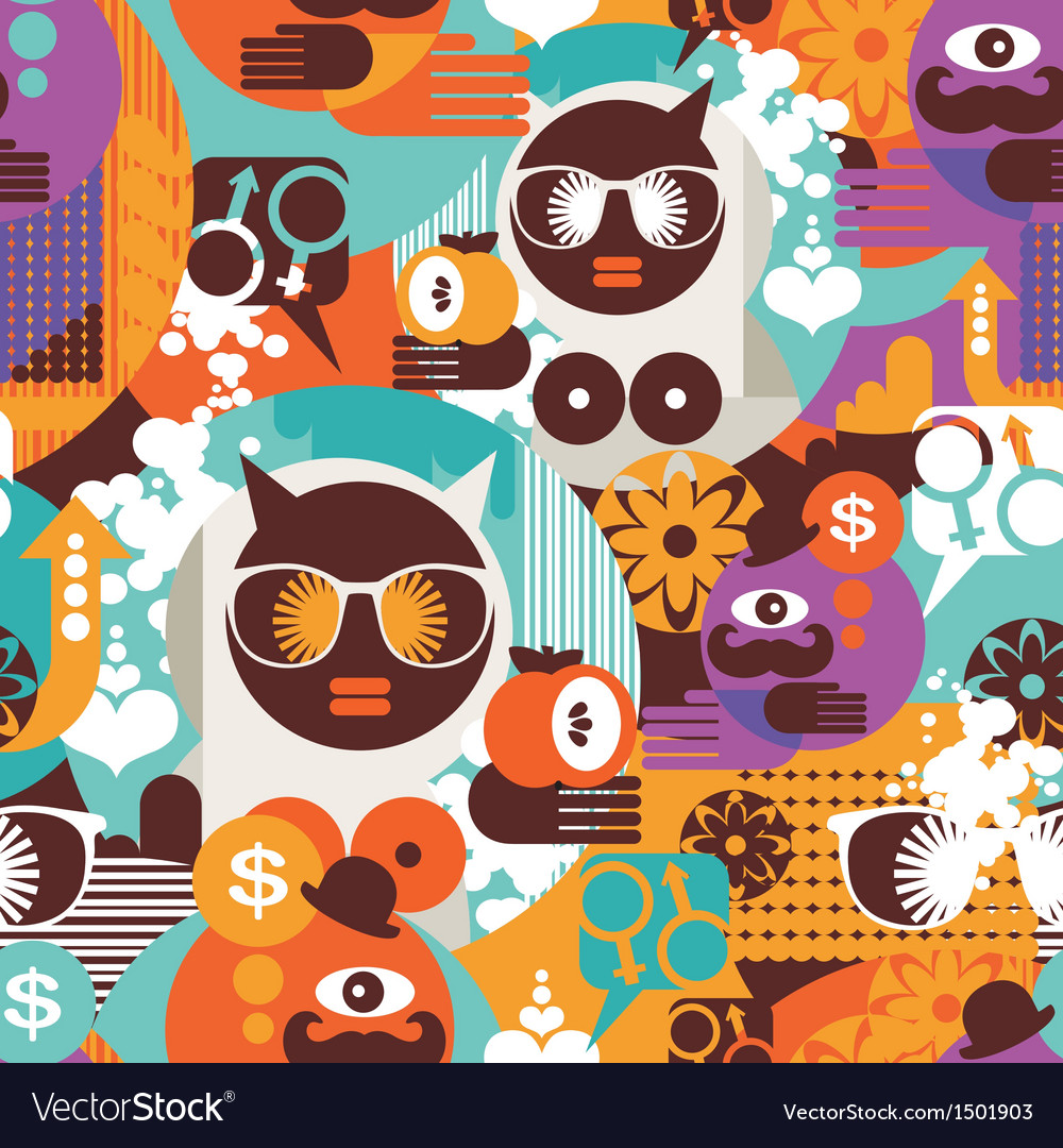 Seamless pattern with modern vector | Price: 3 Credit (USD $3)
